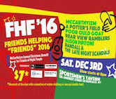 Friends Helping Friends 2016 McCarthyizm, A Potters Field, Poor Ould Goat, Rear View Ramblers, Alison Pipitone, Randal & The Late Night Scandals 8pm $7