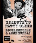 "Tribute To Patsy Cline, Rosanne Cash, Anne Murray w/Maria Sebastian, Ron Davis, Frank Grizanti, David ""The Waz"" Wasik, & Jim Whitford 4pm $5@door"