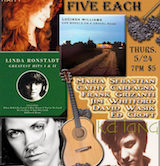 Five Women, Five Each Maria Sebastion Performs Raitt, Ronstadt, Williams, Crow & Lang 7pm $5