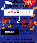 One8Fifty Rocking For Organ Donation Fundraiser w/Doug Yeomans & Sue Kincaid 5:30pm $20