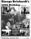 Django Reinhardts 108th Birthday Celebration 5:30pm $10@door