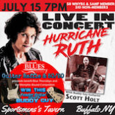Hurricane Ruth w/Scott Holt $10/$8WNYBlues Society Members 7pm