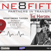 One8Fifty Benefit For Organ Donation w/Hayden Fogle Band & Doug Yeomans & Sue Kincaid 5:30pm $20