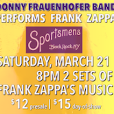 Donny Frauenhofer Band performs Zappa 8pm $12ad/$15door